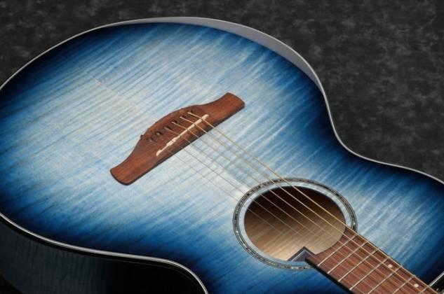 Ibanez AEWC400-IBB AEWC Series 6 String RH Acoustic Electric Guitar-Indigo Blue Burst High Gloss Product Image 4
