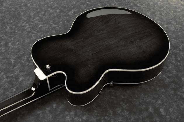 Ibanez AFB200-TKS Artcore 4 String RH Hollowbody Acoustic Bass Guitar-Transparent Black Sunburst  Product Image 3