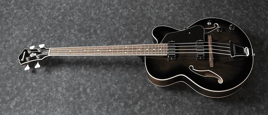 Ibanez AFB200-TKS Artcore 4 String RH Hollowbody Acoustic Bass Guitar-Transparent Black Sunburst  Product Image 4
