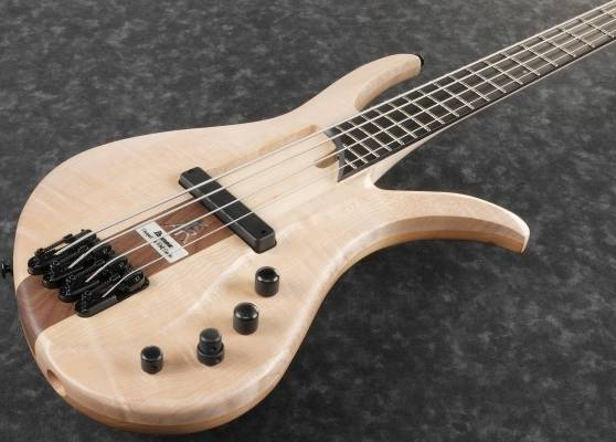 Ibanez AFR4FMP-NTF Premium Affirma 4 String RH Electric Bass with Case-Natural Flat (ETA pending LTD QTY) Product Image 3