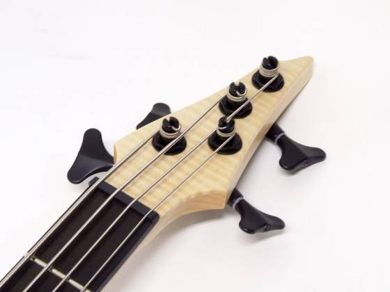 Ibanez AFR4FMP-NTF Premium Affirma 4 String RH Electric Bass with Case-Natural Flat (ETA pending LTD QTY) Product Image 6