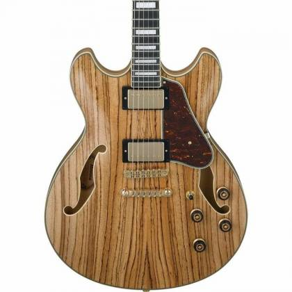 Ibanez AS93ZW-NT Artcore Expressionist 6 String RH Zebrawood Semi-Hollowbody Electric Guitar-Natural Product Image 2
