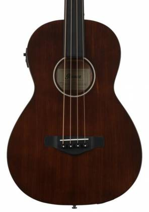 Ibanez AVNB1FE-BV Artwood Fretless 4-String RH Acoustic-Electric Bass-Brown Violin Product Image 2