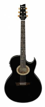 Ibanez EP10-BP Euphoria Series Steve Vai Signature 6 String RH Acoustic Electric Guitar with Case-Black Pearl High Gloss Product Image 2