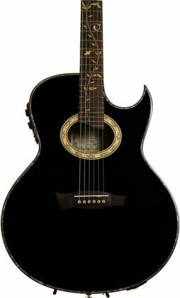 Ibanez EP10-BP Euphoria Series Steve Vai Signature 6 String RH Acoustic Electric Guitar with Case-Black Pearl High Gloss Product Image 4