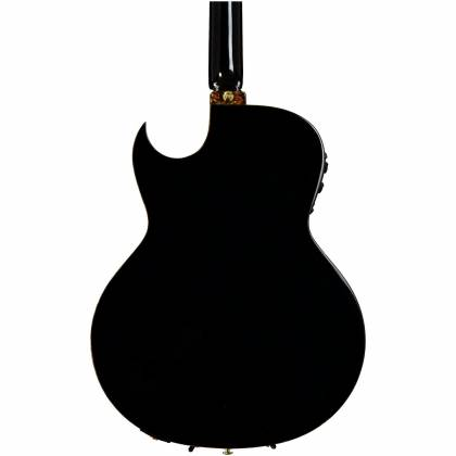Ibanez EP10-BP Euphoria Series Steve Vai Signature 6 String RH Acoustic Electric Guitar with Case-Black Pearl High Gloss Product Image 8