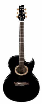 Ibanez EP5-BP Euphoria Series Steve Vai Signature 6 String RH Acoustic Electric Guitar-Black Pearl High Gloss Product Image 2