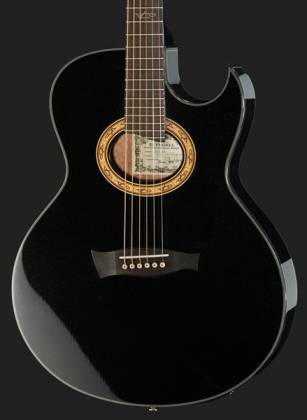 Ibanez EP5-BP Euphoria Series Steve Vai Signature 6 String RH Acoustic Electric Guitar-Black Pearl High Gloss Product Image 4