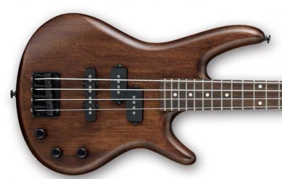 Ibanez GSRM20BWNF GIO Mikro 4 String RH Electric Bass-Walnut Flat gsrm-20-b-wnf Product Image 4