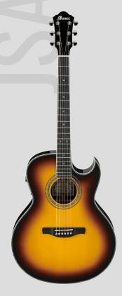 Ibanez JSA20-VB Satriani Signature 6 String RH Acoustic Electric Guitar with Case-Vintage Burst High Gloss Product Image 2