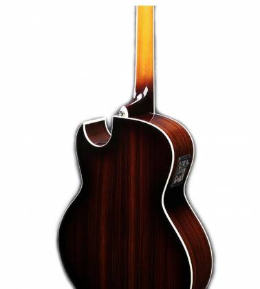Ibanez JSA20-VB Satriani Signature 6 String RH Acoustic Electric Guitar with Case-Vintage Burst High Gloss Product Image 6