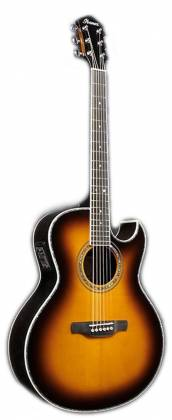 Ibanez JSA20-VB Satriani Signature 6 String RH Acoustic Electric Guitar with Case-Vintage Burst High Gloss Product Image 3