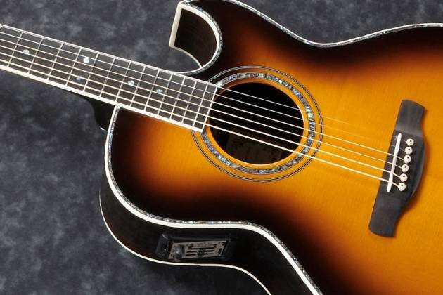 Ibanez JSA20-VB Satriani Signature 6 String RH Acoustic Electric Guitar with Case-Vintage Burst High Gloss Product Image 7