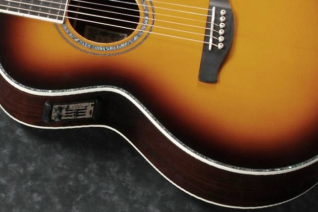 Ibanez JSA20-VB Satriani Signature 6 String RH Acoustic Electric Guitar with Case-Vintage Burst High Gloss Product Image 8