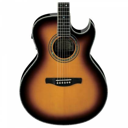 Ibanez JSA20-VB Satriani Signature 6 String RH Acoustic Electric Guitar with Case-Vintage Burst High Gloss Product Image 4