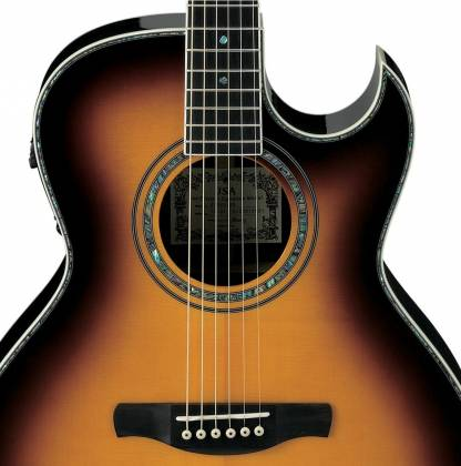 Ibanez JSA20-VB Satriani Signature 6 String RH Acoustic Electric Guitar with Case-Vintage Burst High Gloss Product Image 5