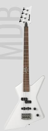 Ibanez MDB4-WH Mike D-Antonio Signature 4 String RH Electric Bass-White Product Image 2