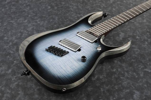 Ibanez RGD61ALMS-CLL Axion Label 6 String RH Electric Guitar-Cerulean Blue Burst Low Gloss Product Image 4