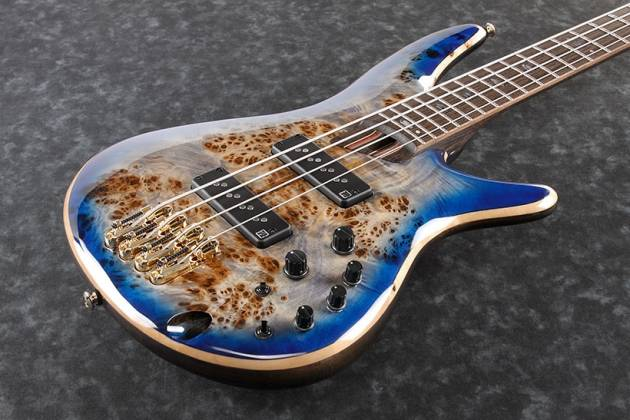 Ibanez SR2600-CBB Soundgear Premium 4-String RH Electric Bass-Cerulean Blue Burst Product Image 4