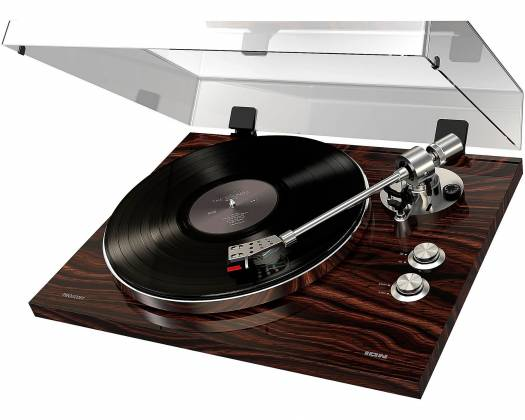ION Audio Pro500BT Premium Belt Drive Turntable With Bluetooth And USB Deluxe Wood Finish Product Image 2