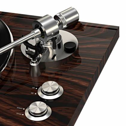 ION Audio Pro500BT Premium Belt Drive Turntable With Bluetooth And USB Deluxe Wood Finish Product Image 4