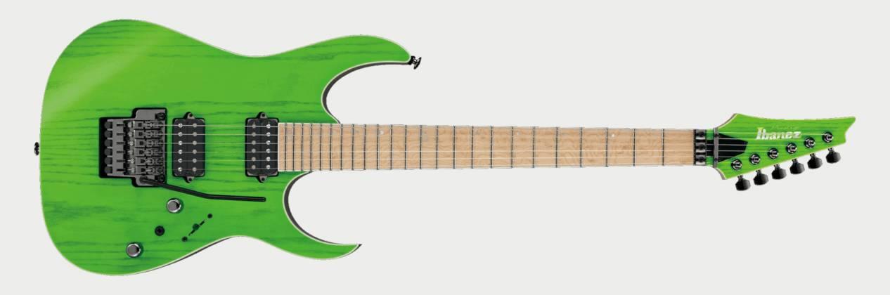 Ibanez RGR5220M-TFG Prestige 6 String Electric Guitar - Transparent Fluorescent Green Product Image 2