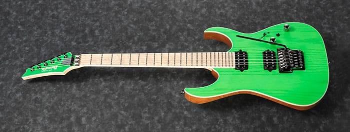 Ibanez RGR5220M-TFG Prestige 6 String Electric Guitar - Transparent Fluorescent Green Product Image 5