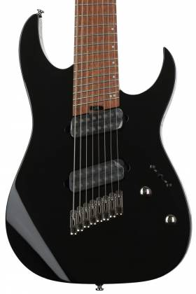 Ibanez RGMS8-BK Iron Label Multi-Scale 8 String Electric Guitar - Black Product Image 4