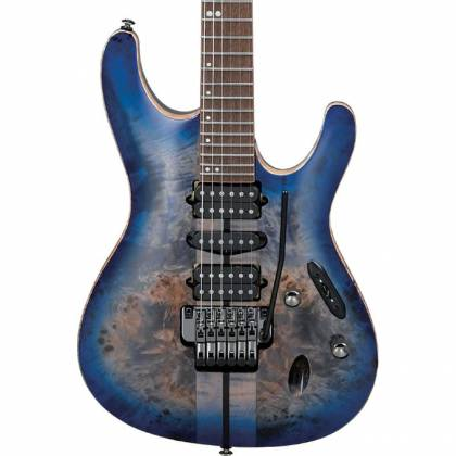 Ibanez S1070PBZ-CLB S Premium Series 6 String Electric Guitar - Cerulean Blue Burst Product Image 2