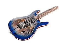 Ibanez S1070PBZ-CLB S Premium Series 6 String Electric Guitar - Cerulean Blue Burst Product Image 5
