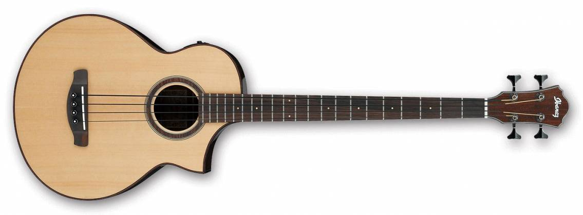 Ibanez AEWB20NT-d Natural High Gloss 4 String RH Acoustic Bass (Discontinued Clearance)  (Prior Year Model) Product Image 2