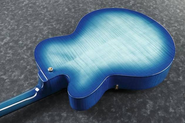 Ibanez AFC155-JBB-d2019  Contemporary Archtop Series 6 String RH Hollowbody Guitar in Jet Blue Burst with case Product Image 4