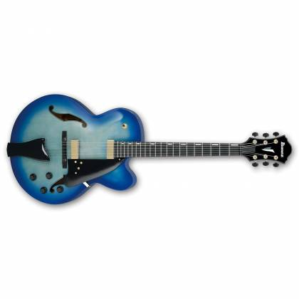 Ibanez AFC155-JBB-d2019  Contemporary Archtop Series 6 String RH Hollowbody Guitar in Jet Blue Burst with case Product Image 2