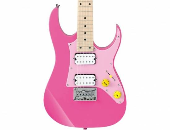 Ibanez GRGM21MCGB-PNK-d Mikro RH 6 String Electric Guitar in Pink Finish (discontinued clearance) Product Image 3