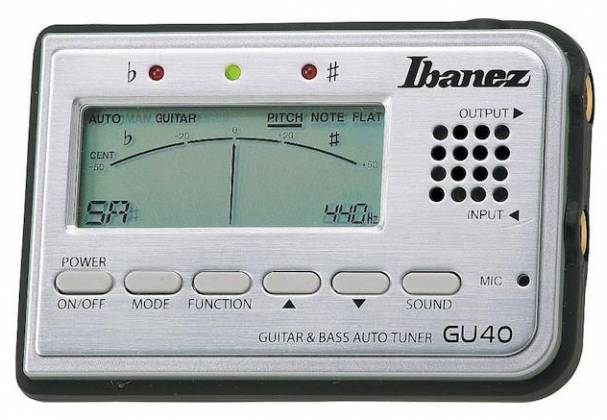 Ibanez GU40-d Tuner for Guitar and Bass with speaker and microphone (discontinued clearance) Product Image 3