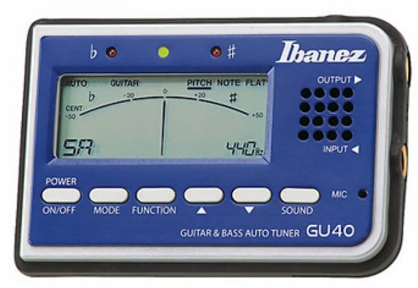 Ibanez GU40-d Tuner for Guitar and Bass with speaker and microphone (discontinued clearance) Product Image 4