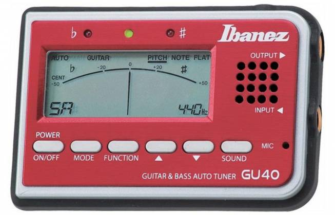 Ibanez GU40-d Tuner for Guitar and Bass with speaker and microphone (discontinued clearance) Product Image 5