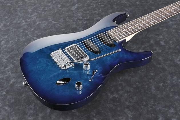 ibanez sa160qm spb d sa series 6 string rh electric guitar in sapphire blue discontinued. Black Bedroom Furniture Sets. Home Design Ideas