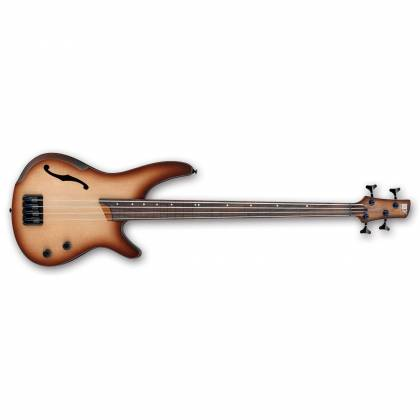 Ibanez SRH500F-NNF-d SR Bass Workshop 4 String RH Semi-hollow Fretless Electric Bass Natural Brown Burst Flat (discontinued clearance)  (Prior Year Model) Product Image 2