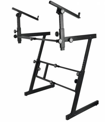 On Stage Stands KS7365-EJ Pro Heavy-Duty Folding-Z Keyboard w/ 2nd Tier Product Image 2