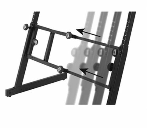 On Stage Stands KS7365-EJ Pro Heavy-Duty Folding-Z Keyboard w/ 2nd Tier Product Image 3