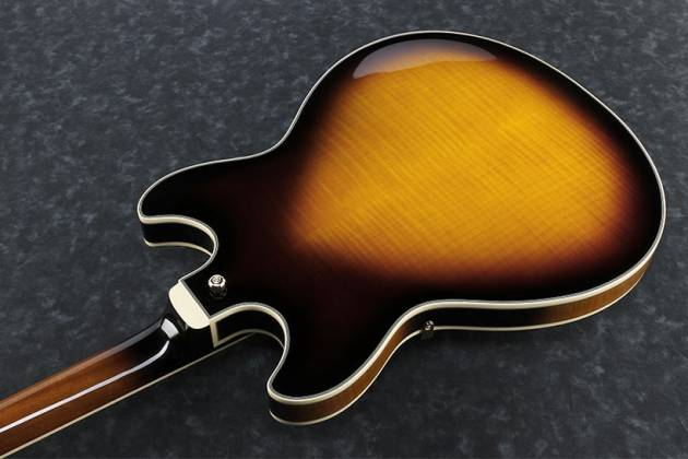 Ibanez JSM10-VYS John Scofield Signature Hollow Body Guitar in Vintage Yellow Sunburst Product Image 3