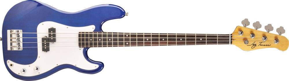 Jay Turser JTb400-C TBL RH 4 String Electric Bass in Blue Finish (discontinued clearance) Product Image 2