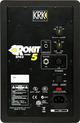 KRK RP5-G3 Rokit 5-inch Two-Way Active Powered Studio Monitor Product Image 4