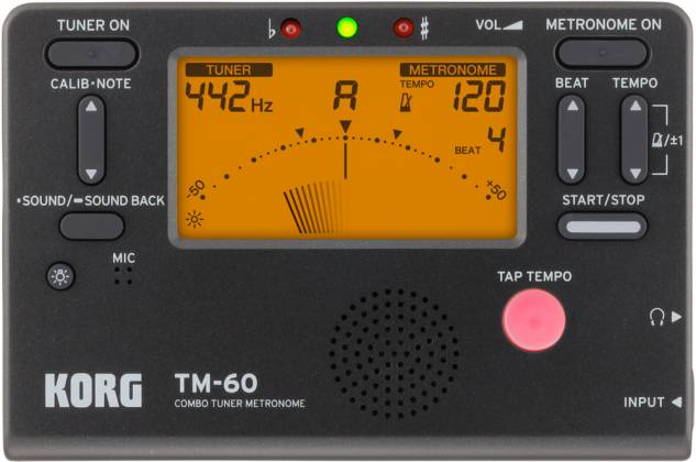 Korg Tuners TM60CBK Metronome Tuner with Contact Mic – Black Product Image 3