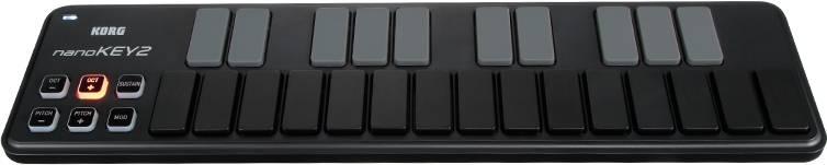 Korg DJ NANOKEY2-BK Black 25-key USB MIDI Keyboard Controller Product Image 3