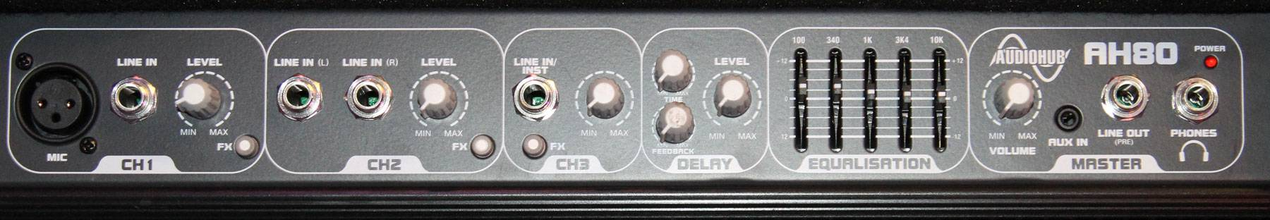 Laney AH80 3 Channel 80W Multi Instrument Amplifier Product Image 4