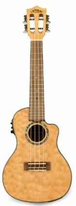 Lanikai QM-NACEC Quilted Maple Electric Concert Ukulele-Natural Stain Product Image 4