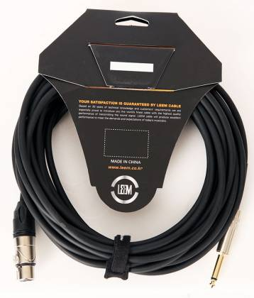 Leem BMH25 XLR Female to 1/4 Mono Microphone Cable Product Image 3