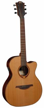 Lag T118ASCE Tramontane 118 Auditorium Slim Cutaway 6 String RH Acoustic-Electric - Natural Product Image 2